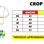 CROP TOP TABLA MEDIDAS